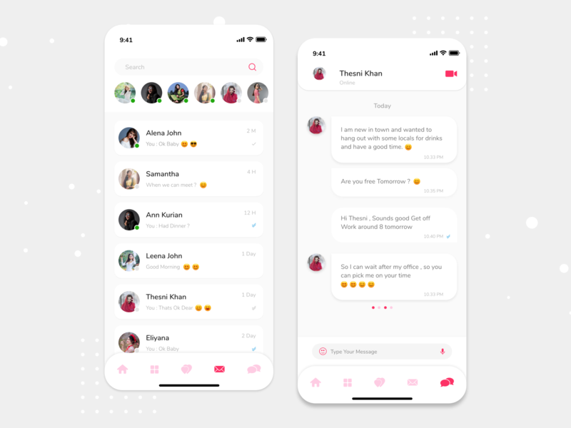 Dating App Concept - Chat messaging chat chatting dating app mobile app design ios design ux ui