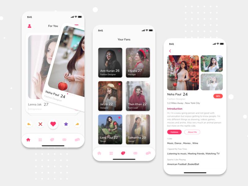 Dating App Concept finding girl dating app mobile app design ios design ux ui