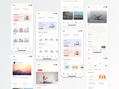 Meditation and Yoga App - Concept yoga meditation app yoga app app mobile app design ios design ux ui