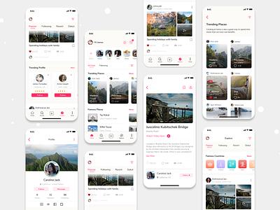 Travel Experience Sharing App socialmedia travel experiancesharing travelexperiance travelapp app mobile app design ios design ux ui