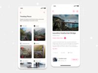 Travel Experience Sharing App travel app travelexperiance trending travelapp app mobile app design ios design ux ui