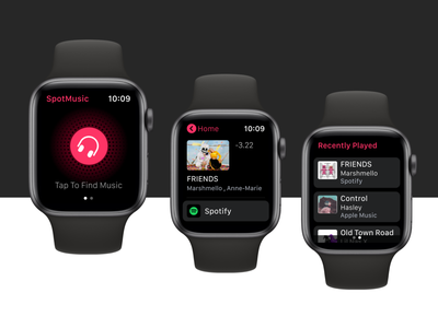 Apple Watch Design : SpotMusic applewatchdesign iwatchdesign iwatchdesign applewatch design ux ui
