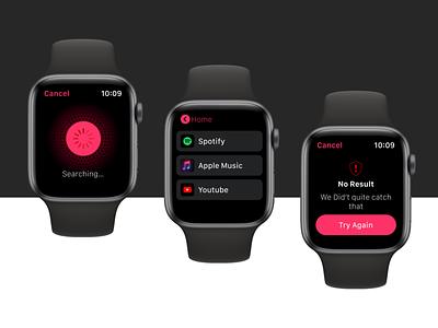 Apple Watch Design : SpotMusic listetnmusic musicwatch watchapplication watchdesign apple watch apple applewatch ios design ux ui