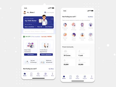 Doctor Appointment Booking App - Redesign Concept app mobile app design ios design ux ui