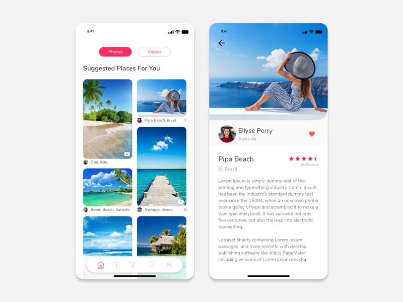 Travel Experience Sharing App traveling traveler travelexperiance travel app mobile app design ios design ux ui