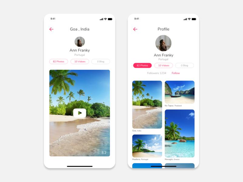 Travel Experience Sharing App travelling travelexperiance travel blog travel app app ios mobile app design design ux ui