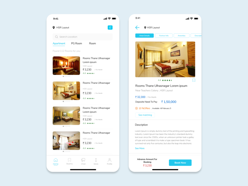 Roommate / Room Finder Application - IOS Design roommatesearch roommatesearch roomsearch roomsearch room ios mobile app design design ux ui