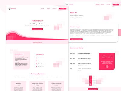 Personal Branding Website - CV ownwebsite resume cv resume portfolio personalbrandingwebsite website design ux ui