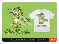 Cool Crocodile Character