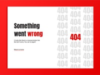 Daily UI 008 : 404 Error Message