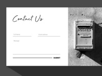 Daily UI 28: Contact Us
