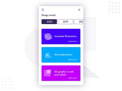 Daily UI #069: Trending ux trends vector design dailychallenge daily 100 ui