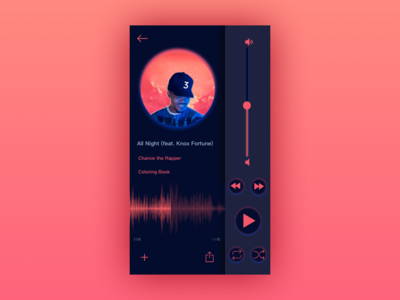 Daily UI #009: Music Player chance the rapper music ui app dailychallenge daily 100