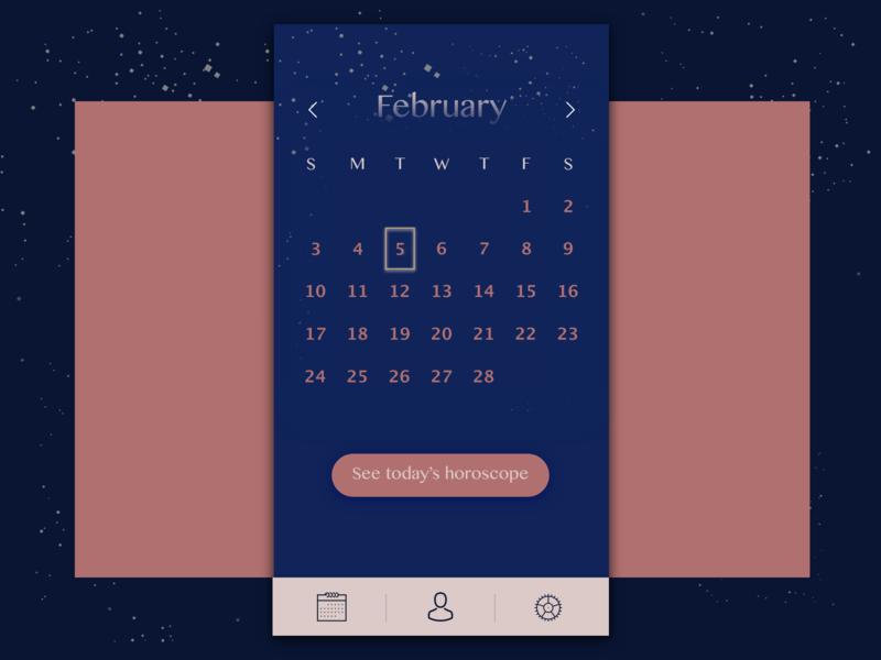 Horoscope Calendar.Daily Ui 038 Calendar By Kaleigh Flynn On Dribbble