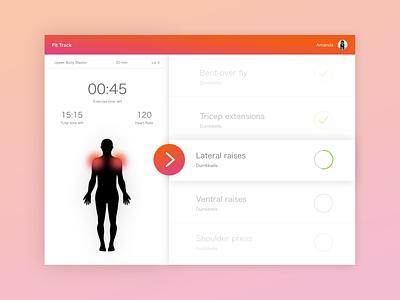 Daily UI #041:  Workout Tracker workout tracker workout design dailychallenge daily 100 ui