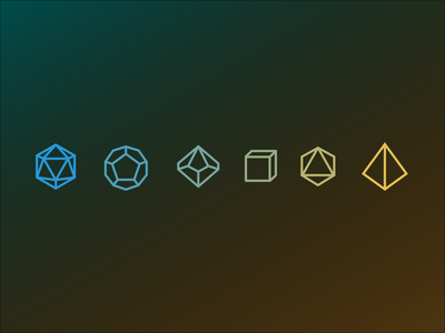 Daily UI #055: Icon Set dungeons and dragons d20 dice dnd design dailychallenge daily 100 ui
