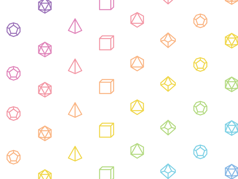 Daily UI #059: Background Pattern d20 pride adobe xd vector dice dnd design dailychallenge daily 100 ui