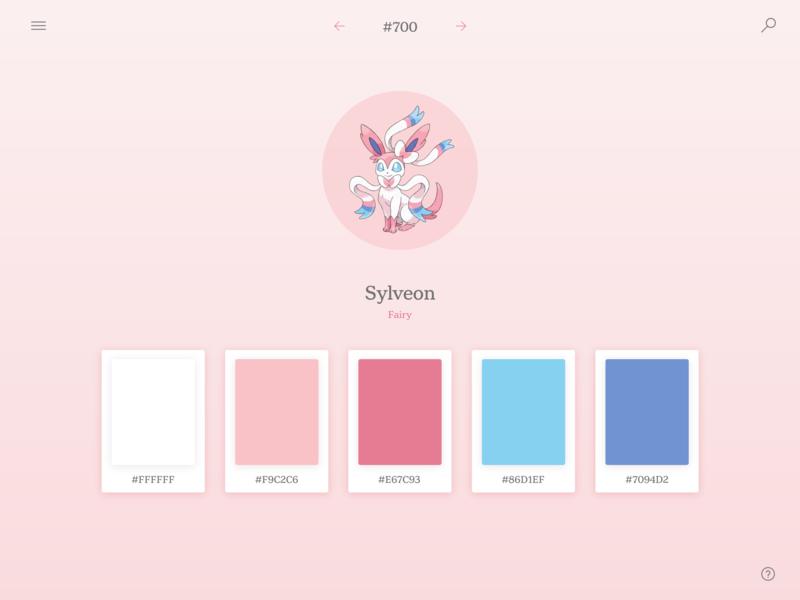 Daily UI #060: Color Picker color palette color picker palette fairy pink sylveon pokemon color design dailychallenge daily 100 ui