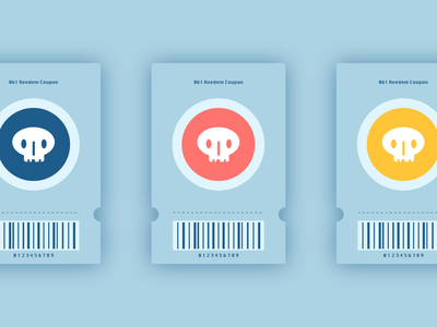 Daily UI #061: Redeem Coupon ticket skull coupon adobe xd design dailychallenge daily 100 ui
