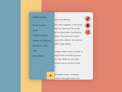 Daily UI #065: Notes Widget