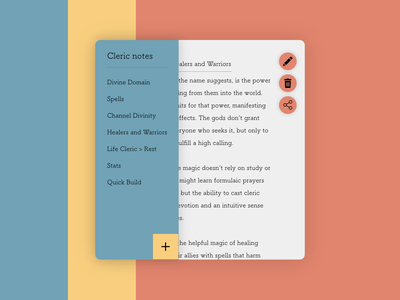 Daily UI #065: Notes Widget notebook notes cleric adobe xd design dailychallenge daily 100 ui