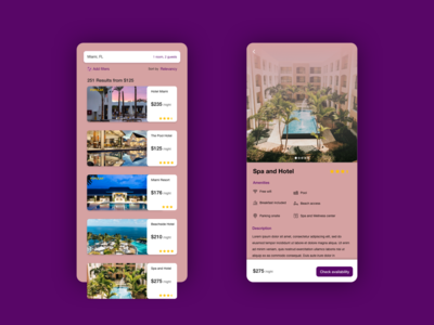 Daily UI #067: Hotel Booking hotel app hotel booking hotel app design adobe xd dailychallenge daily 100 ui