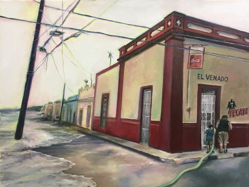 Campeche surrealist dreamscape mexico surrealism realism architecture