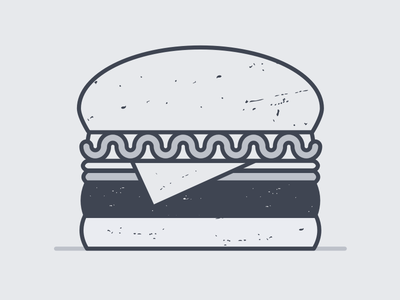 1. Hi! This is Burger. screenshake ryan putnam texture operator food burger art illustration