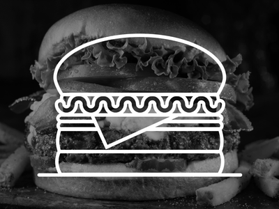 9. B/W Burgers~~ aleksandar savic burger illustration art screenshake