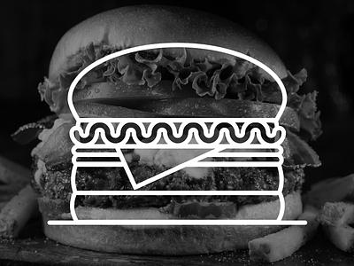 9. B/W Burgers~~ aleksandar savic burger illustration art screenshake
