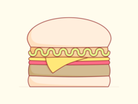 12. Candy burger! burnt toast creative burger illustration art screenshake