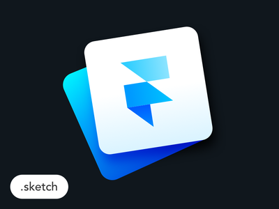 Freebie 2.0 - Framer Logo in sketch framerjs framer sketch freebie gradients screenshake download