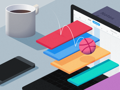 Flow - Illustration dribbble illustration flow ios ui redesign flat project management tasks