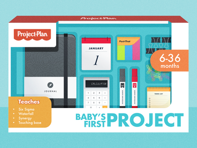 First Project Illustration toys project management flat flow illustration