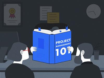 Project Management 101 Illustration illustration flow flat project management