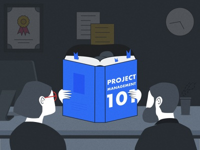 Project Management 101 Illustration illustration flow flat project management