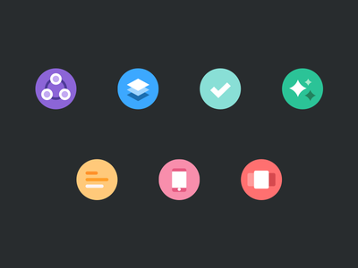 Home Page Icons color icons flow flat project management