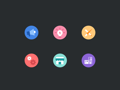 More Home Page Icons project management flat flow icons color