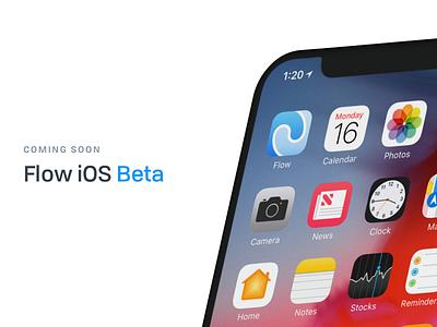 Flow - iOS Beta redesign project management flat flow color