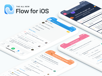 The All New Flow ui design flow project management flat