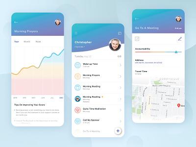 Daily Addiction Discipline App and Tracker ui ux clean app design app