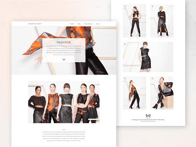 Fashion Website concept website concept design website web fashion design fashion
