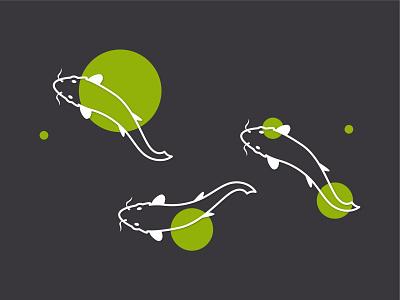 Koi Fish design illustration illustrator fish koi