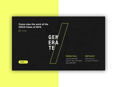 Generate branding show desktop white black yellow logo generate web design webdesign website