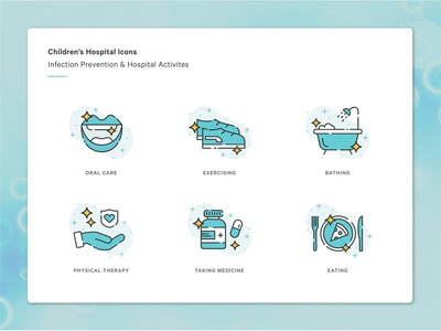 Infection Prevention & Hospital Activities Icons
