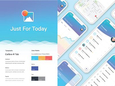 Style Guide ux ui app design app illustrator logo design