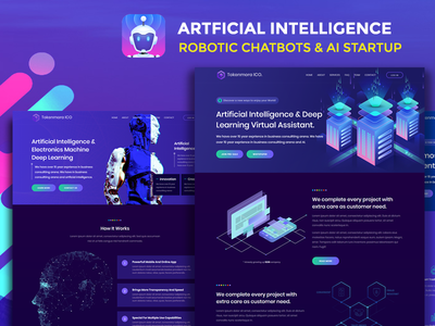 Robotizer - Chatbot Startup, AI Agency & ML Business Template