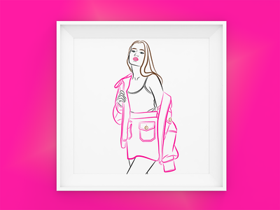 Pink all the way graphic  design vector inspiration illustration dribbble design creative art