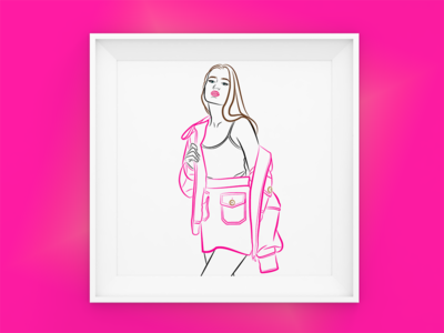 Pink all the way graphic  design vector inspiration illustration dribbble design creative art
