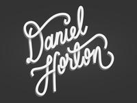 Handwritten Logo For Myself